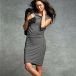 Athleta Westwood Grey Ruched Dress Size Small NWT